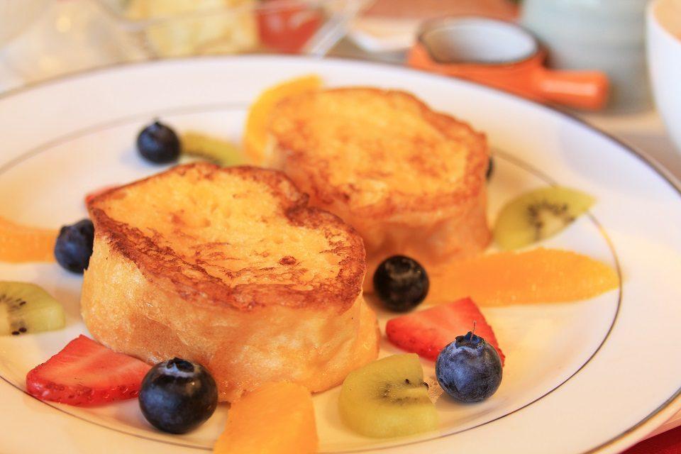 朝食のフレンチトースト